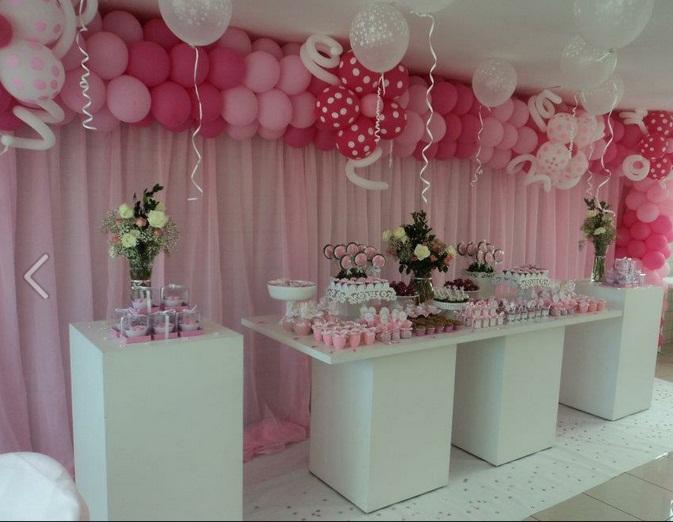 Decoração Com Voal ~ festa rosa 15anos1